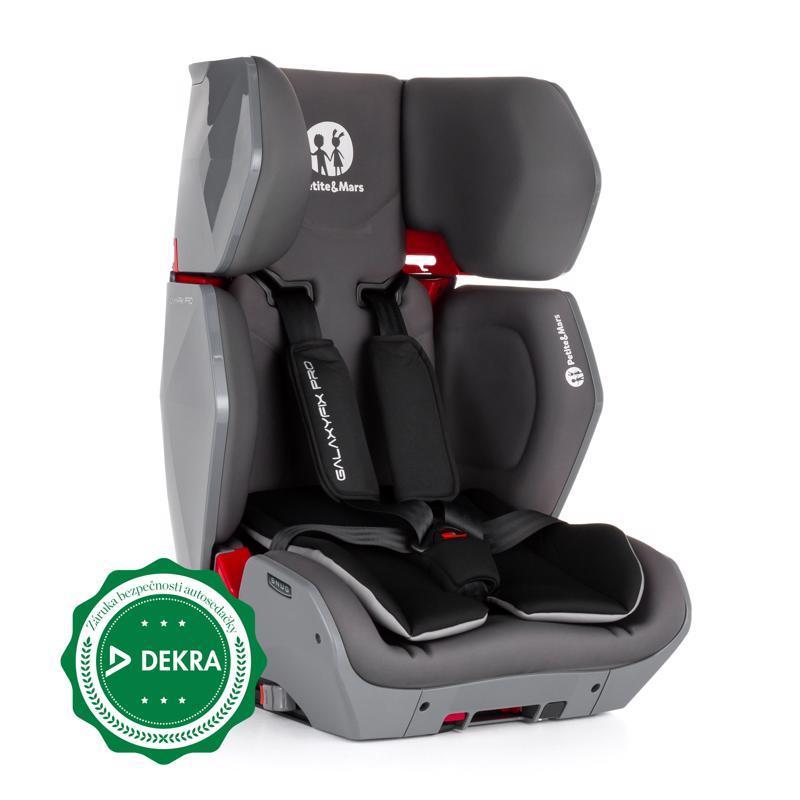 PETITE&MARS Autosedačka Galaxyfix Pro Grey (9-36 kg)