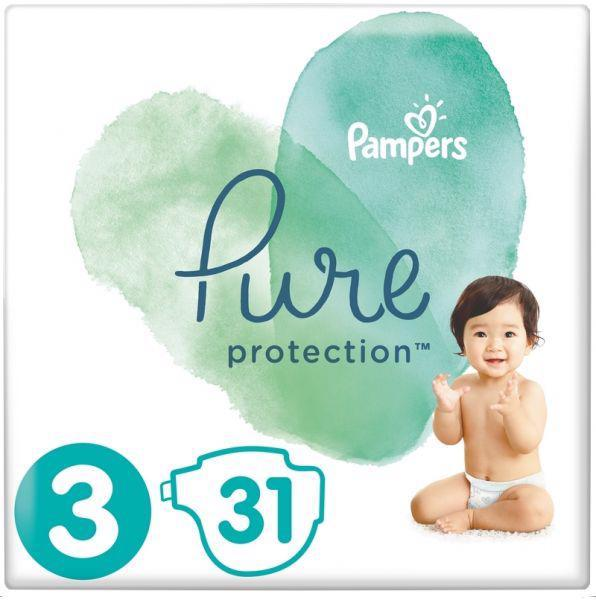 Plienky Pure Protection 3 MIDI 6-10kg 31ks Pampers