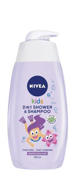 Gél detský sprchovací 2v1 Girl 500ml Nivea Baby