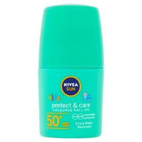 NIVEA Sun Protect & Care Detské farebné mlieko na opaľovanie guľôčkové OF 50+ 50 ml