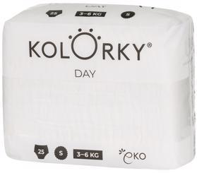 KOLORKY DAY NATURE - S (3-6 kg) - 25 ks - jednorazové eko plienky