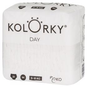 KOLORKY DAY NATURE - M (5-8 kg) - 21 ks - jednorazové eko plienky