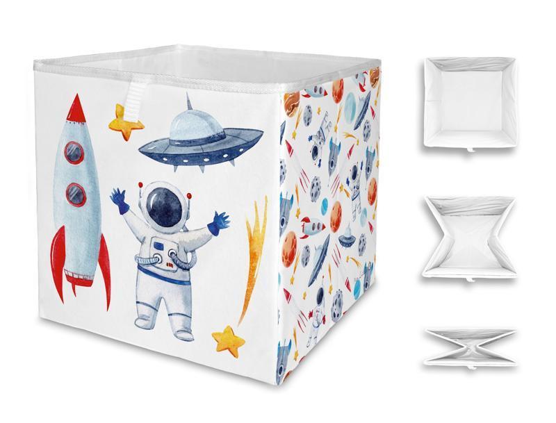 MR. LITTLE FOX Detská úložná krabica Let's go to space