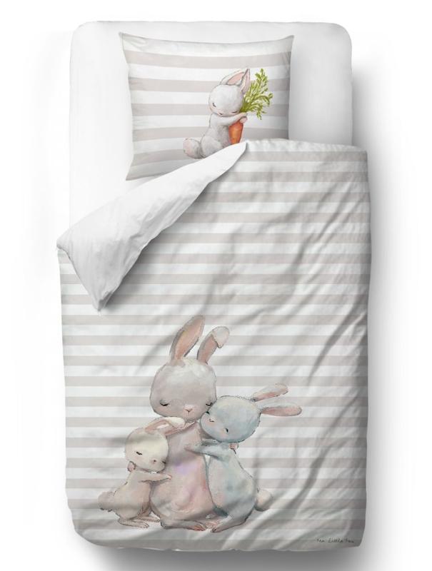 MR. LITTLE FOX Detské obliečky Forest school-hugging bunnies,  V002055