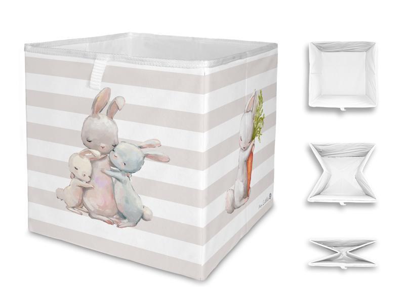 MR. LITTLE FOX Detská úložná krabica Forest school-hugging bunnies
