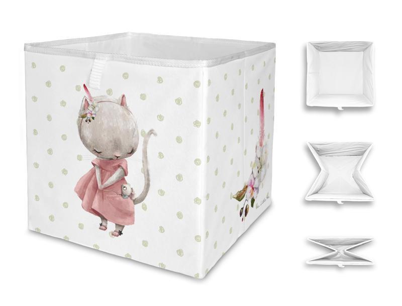 MR. LITTLE FOX Detská úložná krabica Forest school-little mouse