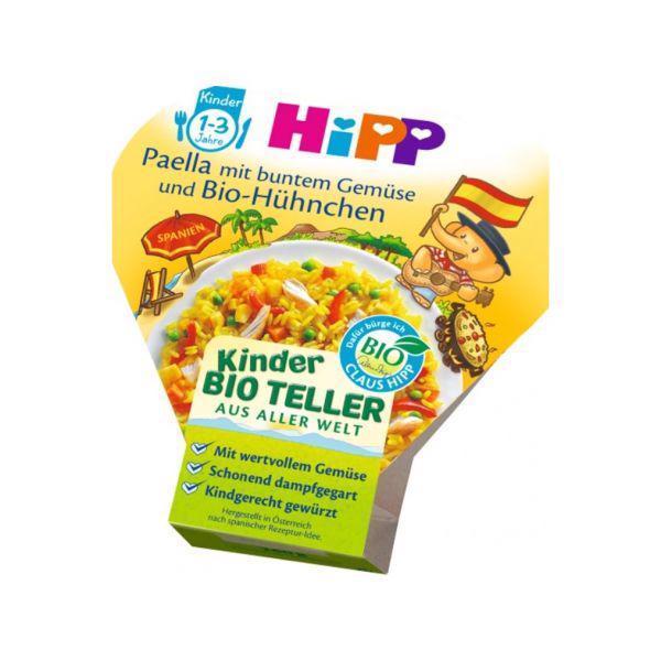 Príkrm zeleninovo-mäsový BIO Paella so zeleninou a kuracím mäsom 250g Hipp