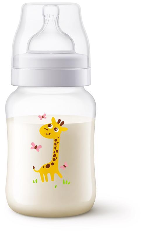 Lahev Anti-colic 260 ml, 1 ks žirafa