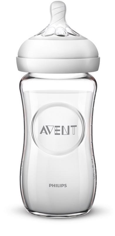 Avent fľaša 240ml Natural.2 SKLO