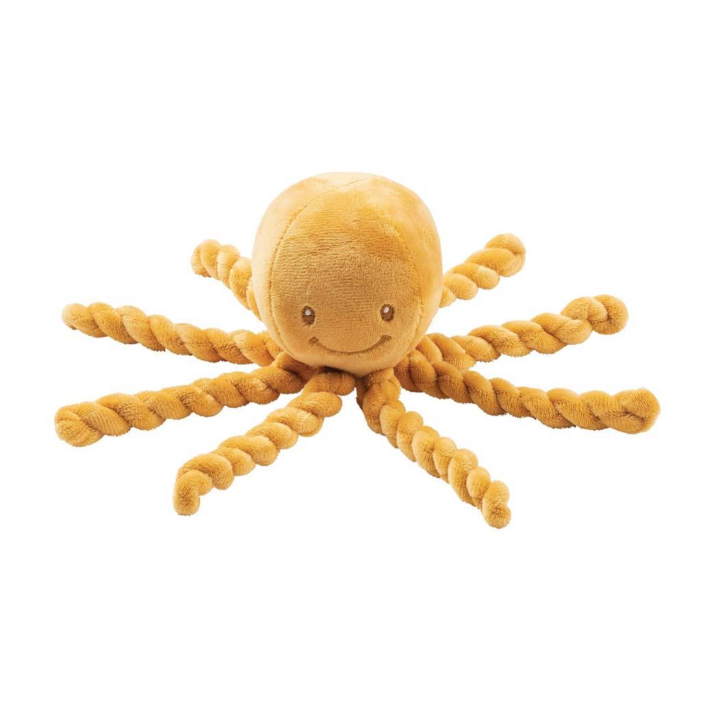NATTOU Prvá hračka pre bábätka chobotnička PIU PIU Lapidou okrová 0m+