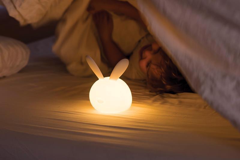 NATTOU Svetielko nočné silikónové so senzorom plaču Lapidou zajačik