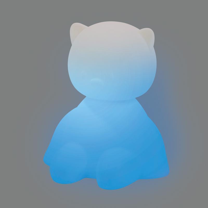NATTOU Svetielko nočné silikónové so senzorom plaču Lapidou mačička