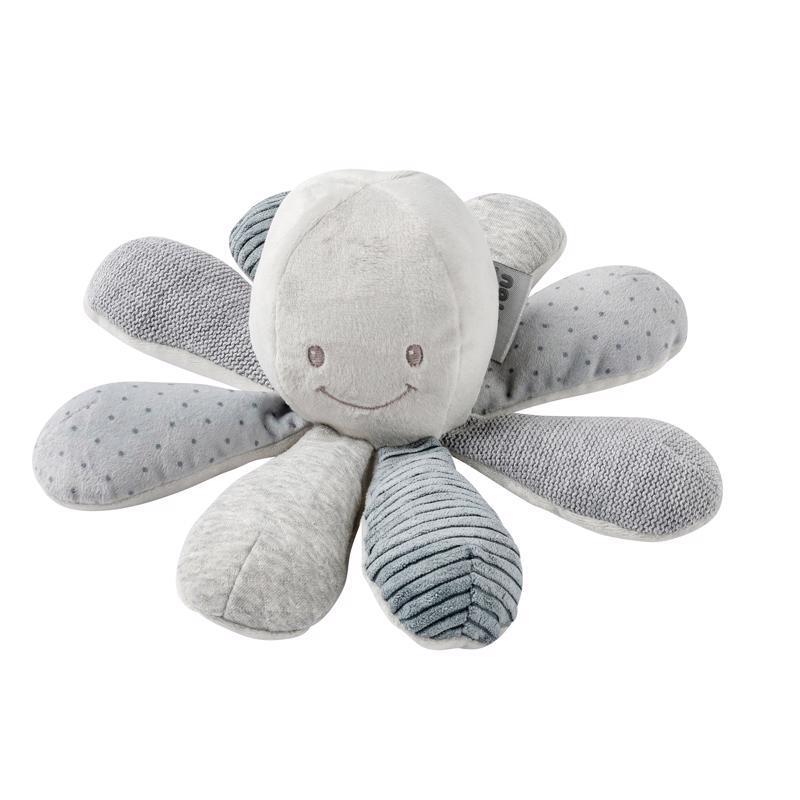 NATTOU Hračka chobotnička edukačná 8 aktivít Lapidou grey