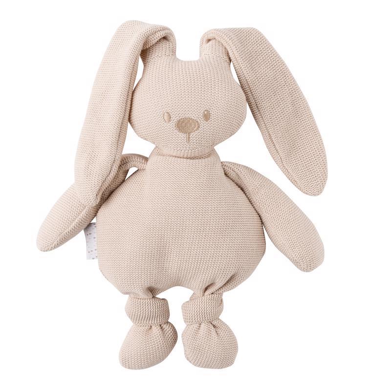 NATTOU Hračka pletená bavlnená zajačik Lapidou cuddly beige 36 cm