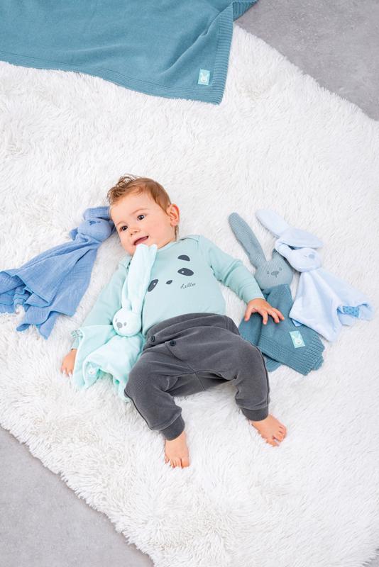NATTOU Maznáčik bavlnený Lapidou blue 44 x 44 cm