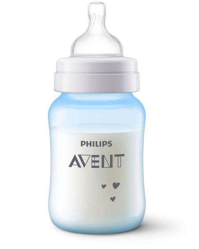 Avent fľaša 260 ml Antikolik modrá slon, 1ks