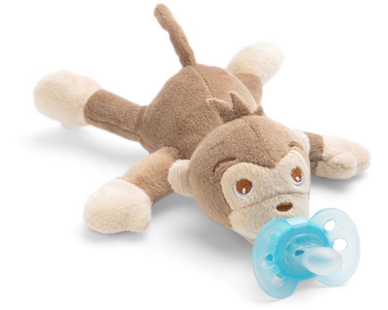Avent hračka plyšová s cumlíkom ultrasoft 0m+, opica