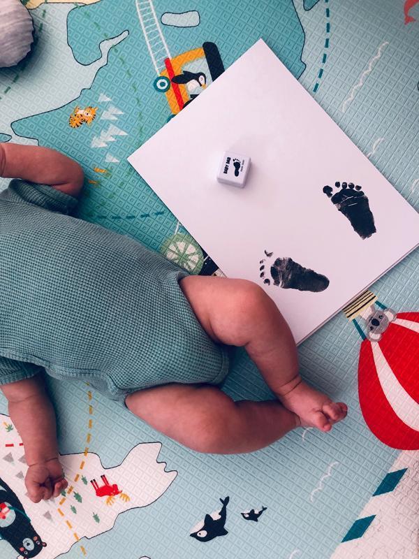 BABY DAB Farba na detské odtlačky - šedá