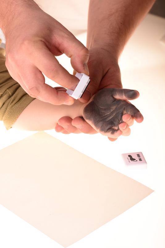 BABY DAB Farba na detské odtlačky 2 ks modrá, šedá
