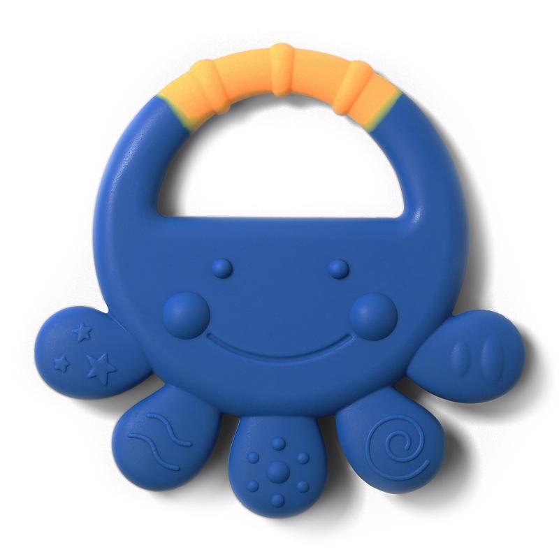 BABYONO Hryzačka silikónová chobotnica Vicky 6m+ modrá