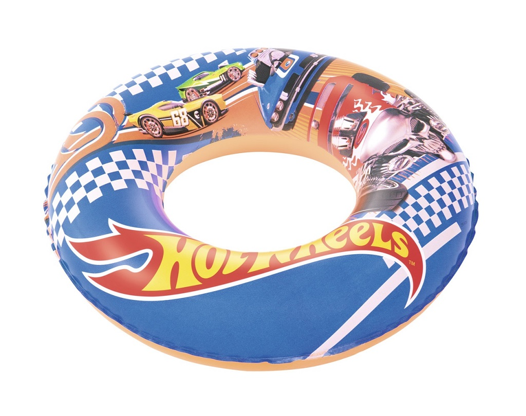 BESTWAY Kruh nafukovací Hot Wheels, průměr 56 cm