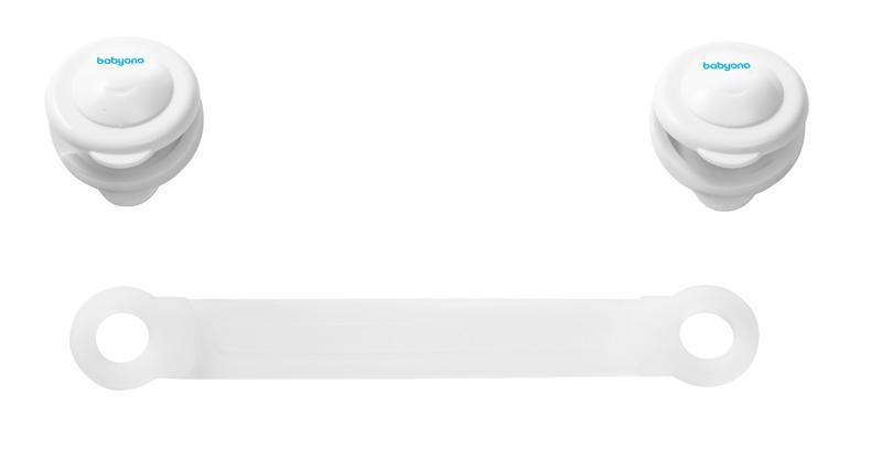 BABYONO Zámok univerzálny pre zásuvky a chladničky - biely,  V000331
