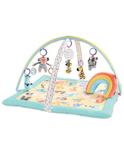 Deka na hranie 5 hračiek, vankúšik ABC & ME 0m+