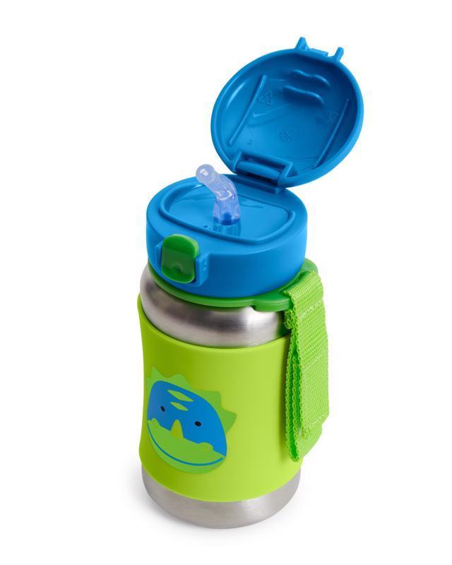 SKIP HOP Zoo hrnček so slamkou bez PVC a BPA Dino 12 m+