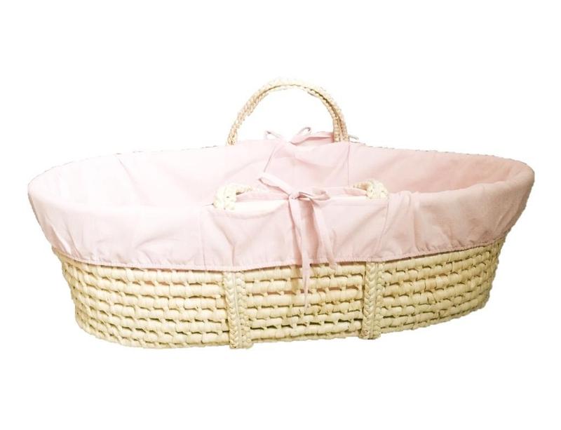 AHOJBABY Poťah do Mojžišovho košíka pre bábätko Pink