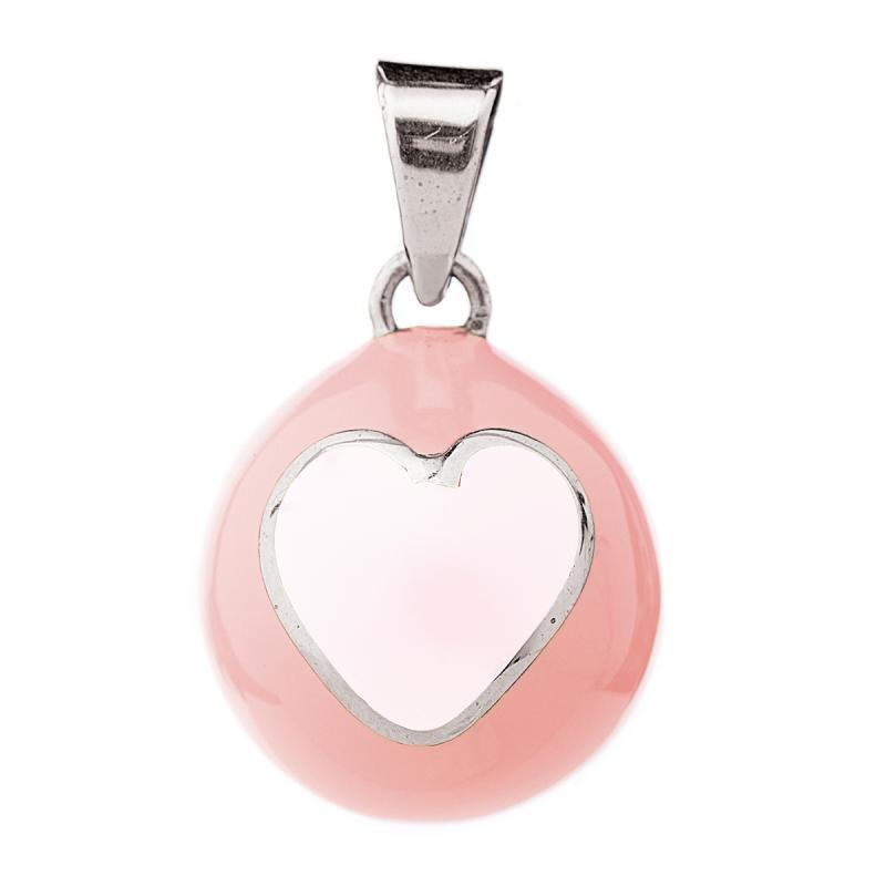 BABYLONIA BOLA Pink with white heart