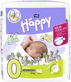 BELLA HAPPY Before Newborn 0 (do 2 kg) 46 ks – jednorazové plienky