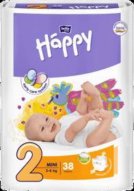 BELLA HAPPY Mini 2 (3-6 kg) 38 ks – jednorazové plienky,  pal 216