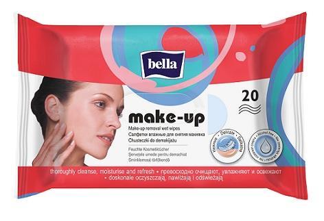 BELLA Make-up odličovacie vlhčené obrúsky, 20 ks