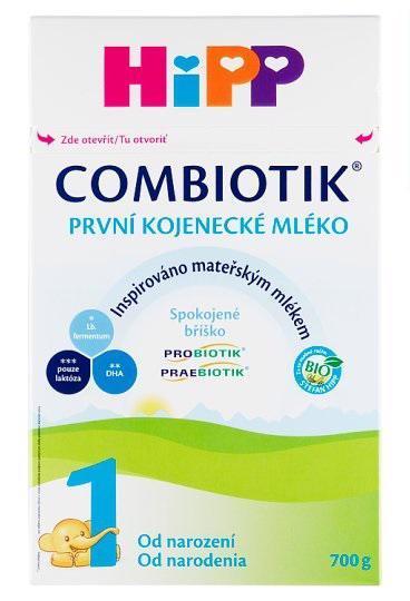Mlieko dojčenské 1 počiatočné BIO Combiotik 700g Hipp