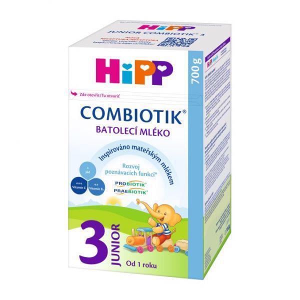 Mlieko dojčenské 3 batoľacie Junior Combiotik 700g Hipp