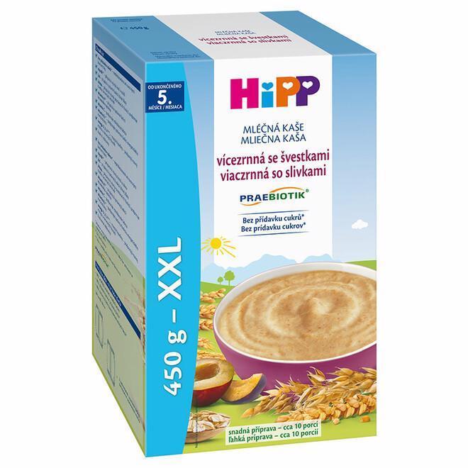 Kaša mliečna Praebiotik viaczrnná so slivkami 450g Hipp