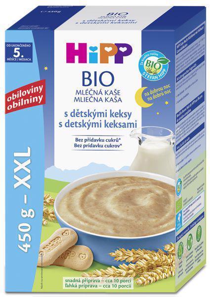 Kaša na dobrú noc BIO mliečna s detskými keksíkmi 450g Hipp