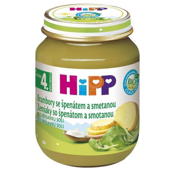 Príkrm zeleninový BIO Špenát so zeleninou a zemiakmi 125g Hipp