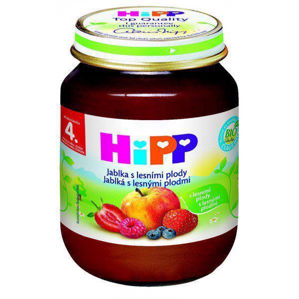 Príkrm ovocný jablká s lesnými plodmi 125g Hipp