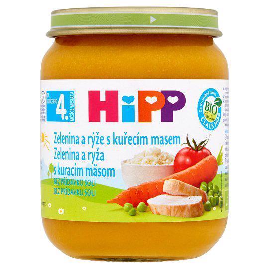 HIPP BIO Zeleninová omáčka s ryžou a kuraťom (125 g) - mäsovo-zeleninový príkrm