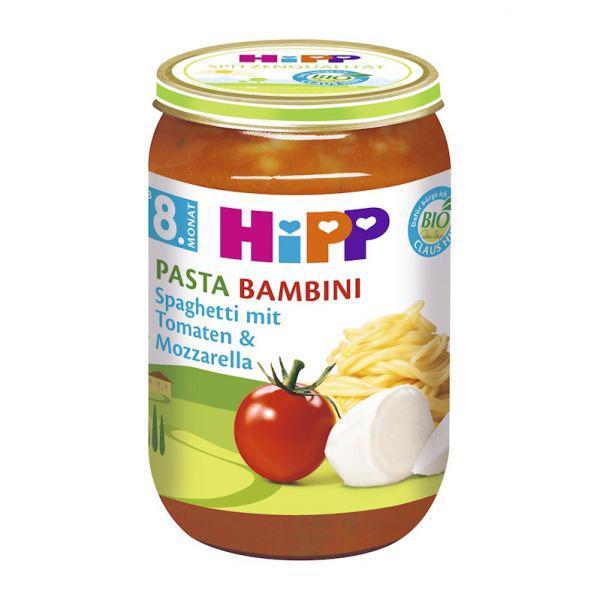 Príkrm zeleninový BIO Pasta Bambini - Rajčin so špagetami a mozarellou 220g Hipp