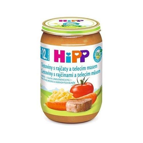 HiPP BIO rajčata s těstovinami a telecím masem (220 g) - maso-zeleninový příkrm