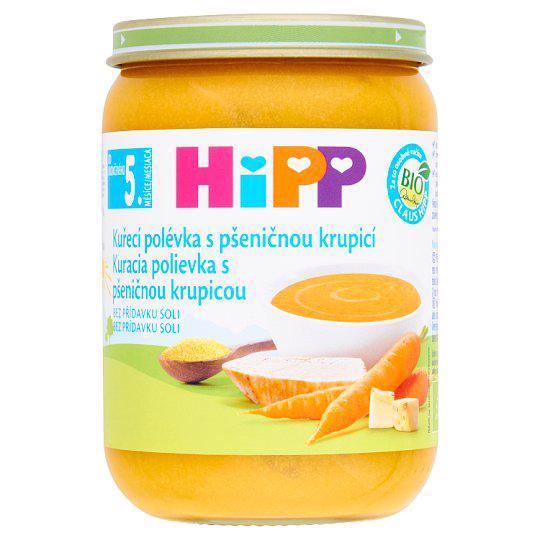 HIPP BIO Kuracia polievka s pšeničnou krupicou (190 g)