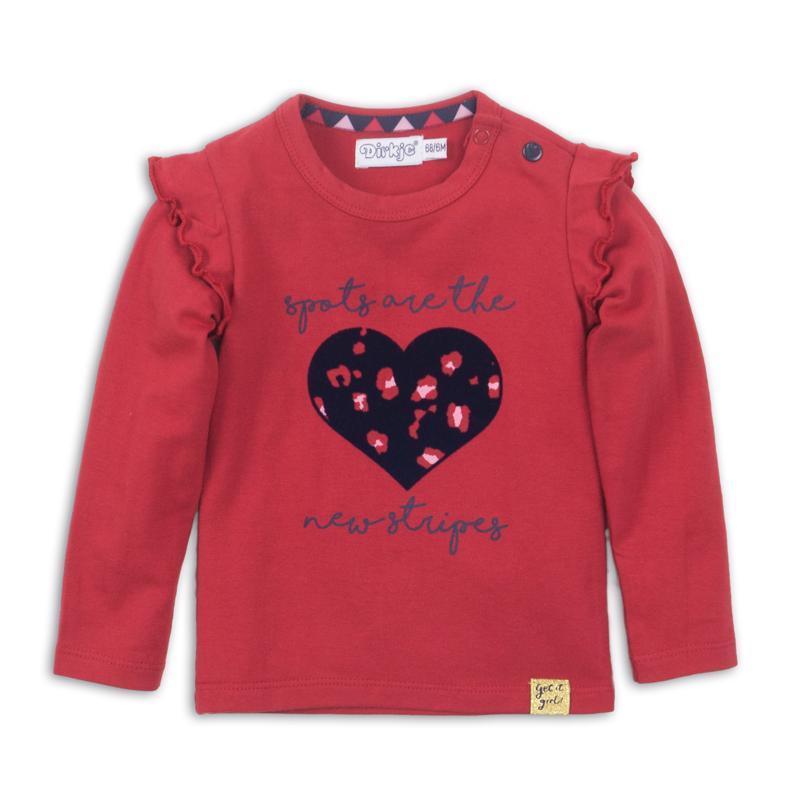 Tričko s dlhým rukávom D-GIRL 68 Red