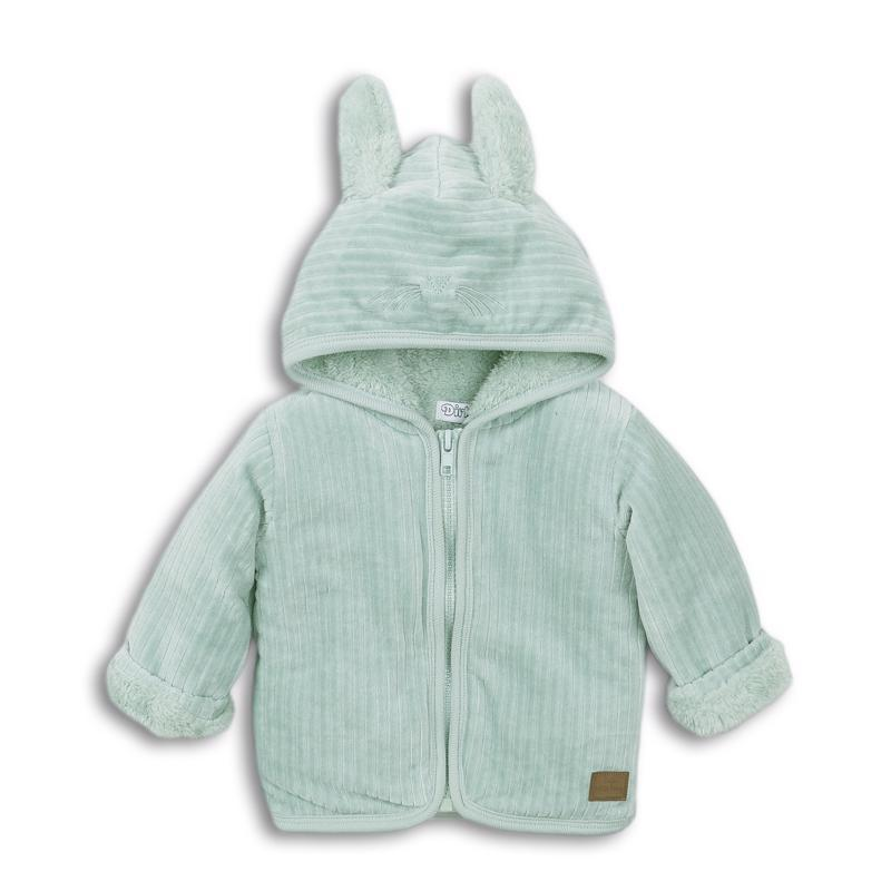 Mikina s kapucňou D_BOY CUTE LITTLE BUNNY 68 Light Green