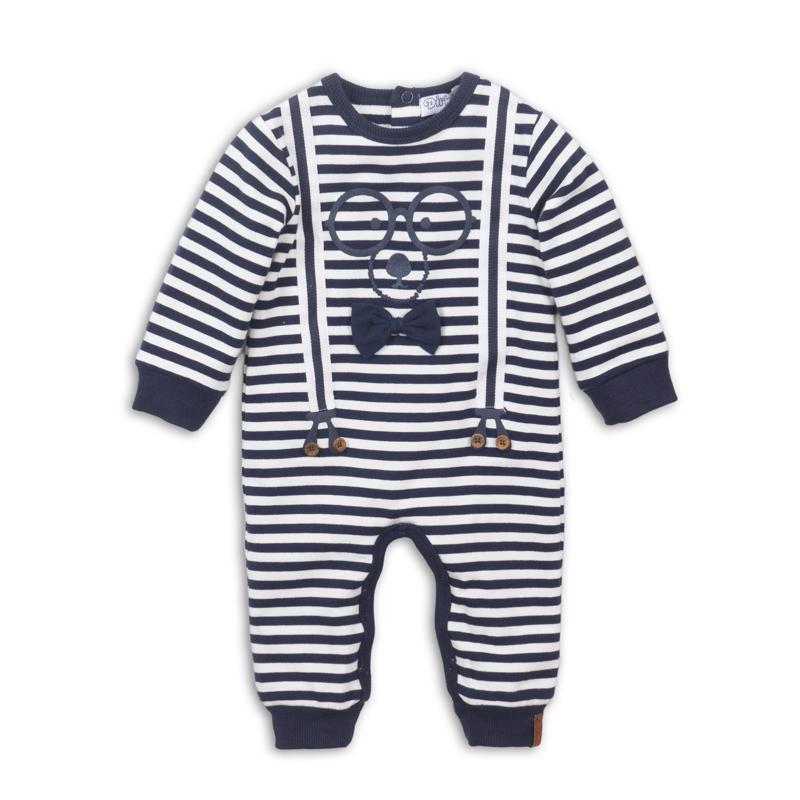Set 1-dielny D-JUST BE COOL HI THERE 62 Navy+off white
