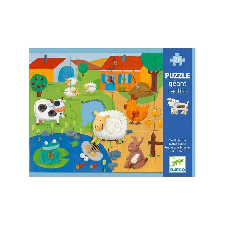 DJECO Puzzle hmatové Farma,  V001830