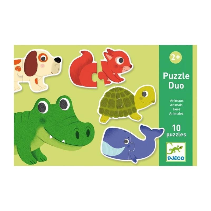 DJECO Duo puzzle Zvieratká,  V001818