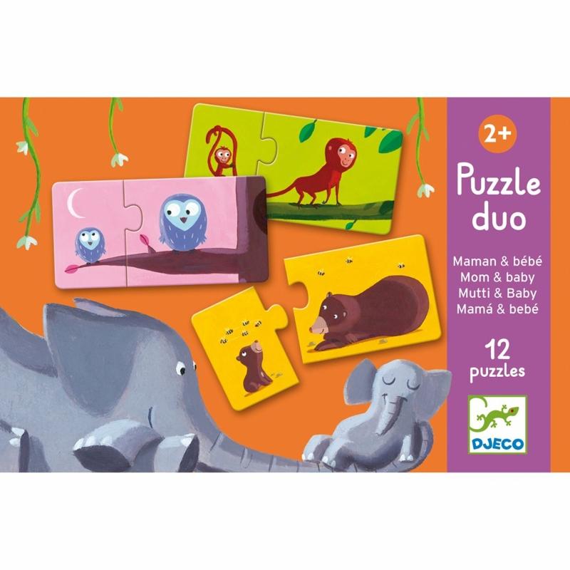 DJECO Puzzle duo Nájdi mláďa,  V001829