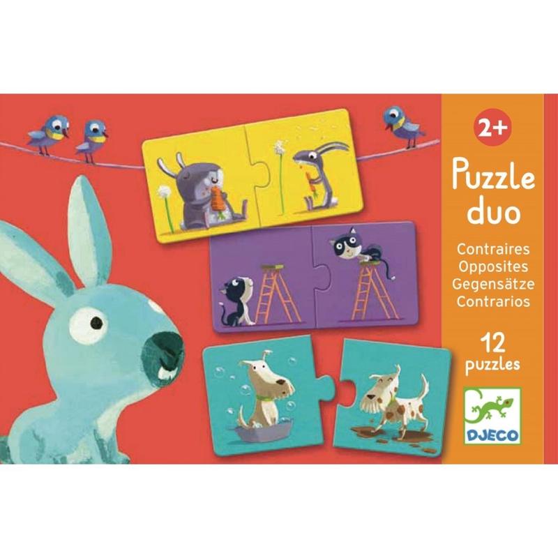 DJECO Duo Puzzle PROTIKLADY,  V001818
